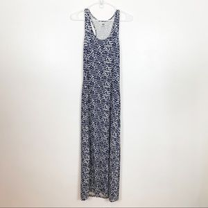 H&M Blue and White Maxi Racerback Dress Size Small